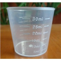 Plastic measuring cup mould