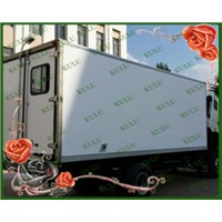 top quality large size isolated dry truck body,dry cargo body,dry van truck body for sale