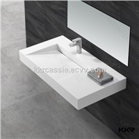 KKR artificial stone solid surface wall hung wash basin