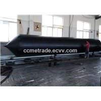Marine pneumatic rubber air bag for launching and lifting