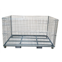 steel galvanized weld stackable wire champine container for storage