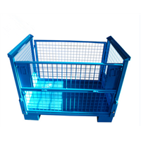 Galvanized Durable Wire Mesh Container for Pet Preform Industry Warehouse Storage
