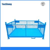 Folding Wire Mesh Cage Storage Steel Crate,Foldable Steel Cage