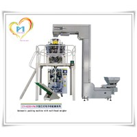 Vertical automatic spice packaging machine with 10 multihead weigher for food