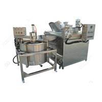 Automatic Peanut Frying & Deoiling Machine|Peanuts Deep Fryer Machine