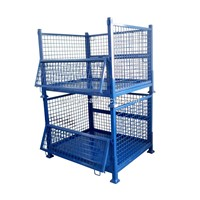 Stackable Metal Storage Wire Mesh Pallet Cage