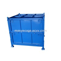 High Quality Collapsible Metal Storage Pallet Box with cover