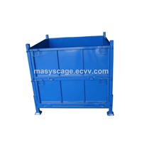 steel plate warehouse container, storage metal cage