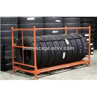 Industrial Metal Shelf System / Warehouse Storage Racking / Tire Storage Stacking Rack