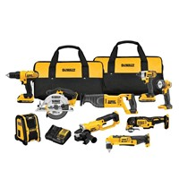 Dewalt DCK940D2 20V Max Lithium-Ion Cordless Combo 9PC Kit Saw Grinder