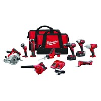 Milwaukee 2695-29 M18 Cordless LITHIUM-ION 9-Tool Combo Kit