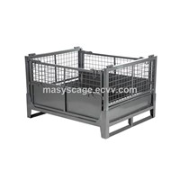 durable Heavy duty warehouse pallet container, storage stillage box