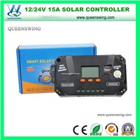 12/24V 10A LCD Solar Charge Controller with USB Ports (QWP-VS1024U)