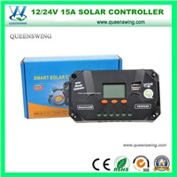 12/24V 15A LCD Solar Power System Charge Controller (QWP-VS1024U)