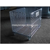 Heavy Duty Collapsible Iron Rigid Mesh Container for Storage