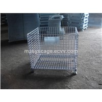 Heavy Duty Collapsible Stacking Wire Mesh Pallet Container for Sale