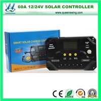 PWM Controller 12/24V 60A Solar Charge Regulator with LCD (QWP-VS6024U)
