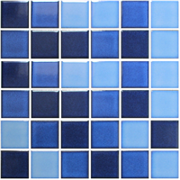 Crystal Glazed Ceramic Mosaic Tile for Swimming Pool 48x48mm