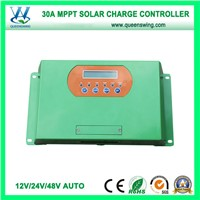 New 12V/24V/48V 30/40/50A MPPT Solar Charge Controller with LCD (QWM-JR30A)
