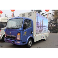 SINOTRUK HOWO 4X2 LED Advertisement Truck for sale-ZZ1047D3414C145