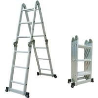 Standard Aluminum Folding Multifunction Telescopic Ladder en131