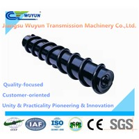 Parallel screw idler for belt conveyor roller in machinery