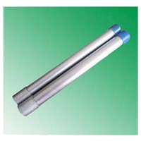 galvanized steel pipe bs1387  threaded with one end coupling and one cap or plain end  China factory