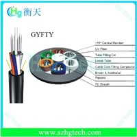 24 Core Single Mode Fiber Optic Cable,GYFTY Loose Tube Stranding Outdoor Fiber Optic Cable