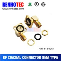 Best price Right-Angle gold-plated smaJack flange waterproof rf coaxial connector