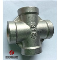 stainless steel screw pipe fittings cross