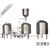 Electric heated 600L craft beer brewing system