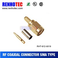SMA male plug crimp RF connector for RG-8X LMR240 RG8X cable assmebly