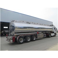 Tri-axle 46000 liters aluminum alloy Fuel Tank Trailer