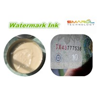 Watermark Ink color white color black for banknote