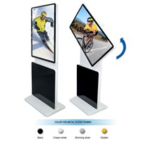 "42"" inch stand on rotatable lcd screen player,digital signage"