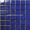 Dark Blue Crystal Glazed Pocerlain Mosaic Tile