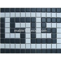 Greek Key Matte White & Black Border