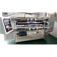 Metallized polyester film slitter and rewinder machine