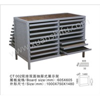 Double sided drawer type tile display rack stand for ceramic tiles