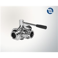 Stainless Steel Food Grade Triclover Three-Way Ball Valve