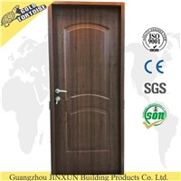 China supplier American steel door, interior PVC steel door design with wood edge