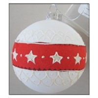 wholesale frosted glass christmas ball with set packing