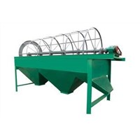 Rotary fertilizer screen machine