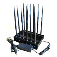 12-band Jammer Cell Phone GSM CDMA 3G 4G WIFI GPS VHF,UHF and Lojack