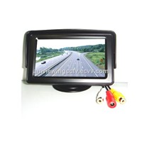 4.3 inch TFT LCD Monitor display with Dual  Video,Car reversing preferential