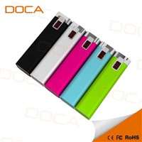 Portable Smart Mobile USB port charge Power Bank 2600 mah, offer samples testing