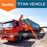 Container sideloader or side loader lifter trailer self loading container lift truck