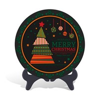 Home decorations Christmas holiday gift plate activated carbon crafts