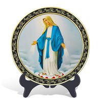 Novelty gifts religious Catholic Assumption of  Virgin Mary plate activated carbon crafts