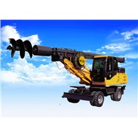 Wheel Pile Driver/Rotary Drilling Rig